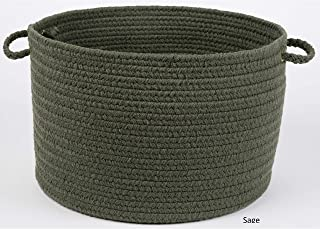 product image for Rhody Rug Madeira 12 x 18-inch Braided Basket Green