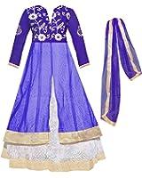 Sky Global Girl's Soft net Embroidery Lehenga Choli For Traditional Wear