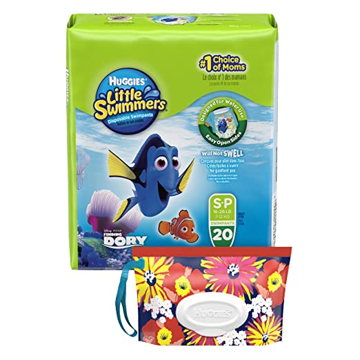 Huggies Little Swimmers Disposable Diaper Swimpants, Size Small, 20 Count, Bonus Pack