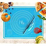 NLess Non Stick Silicone Baking Mats Bpa Free, Large Silicone Baking Sheet Extra Thick Non Stick Baking Mat With…