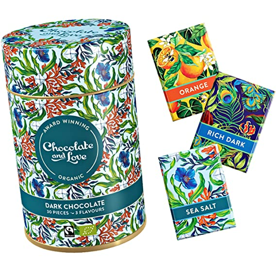 Chocolate And Love Chocolate And Love Organic 30 Pieces Chocolates In Gift Tin