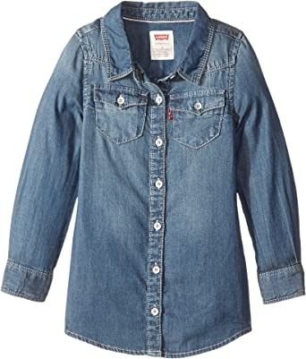 2f44b06a34 Levi s Kids Baby Girl s Long Sleeve Western Dress (Toddler) Rockabilly 2T  Toddler