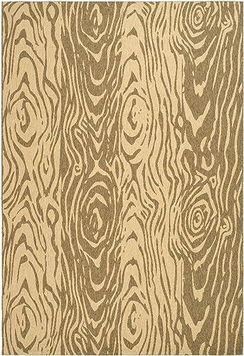 Safavieh Martha Stewart Collection MSR4126B Layered Faux Bois Indoor/ Outdoor Area Rug
