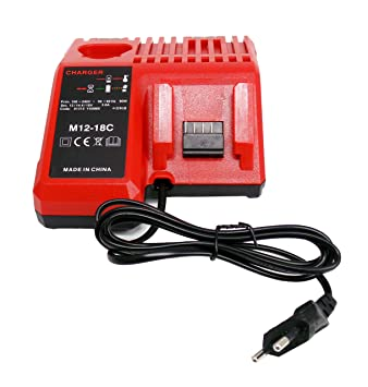 Reemplazar Cargador para Milwaukee M18 M12 18V 220V Li-ion tool batería 48-59-1812 48-59-1807 48-59-1806 48-59-1840 2710-20
