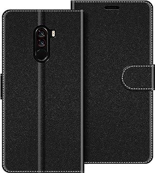 COODIO Funda Xiaomi Pocophone F1 con Tapa, Funda Movil Xiaomi Pocophone F1, Funda Libro Xiaomi Pocophone F1 Carcasa Magnético Funda para Xiaomi Pocophone F1, Negro: Amazon.es: Electrónica
