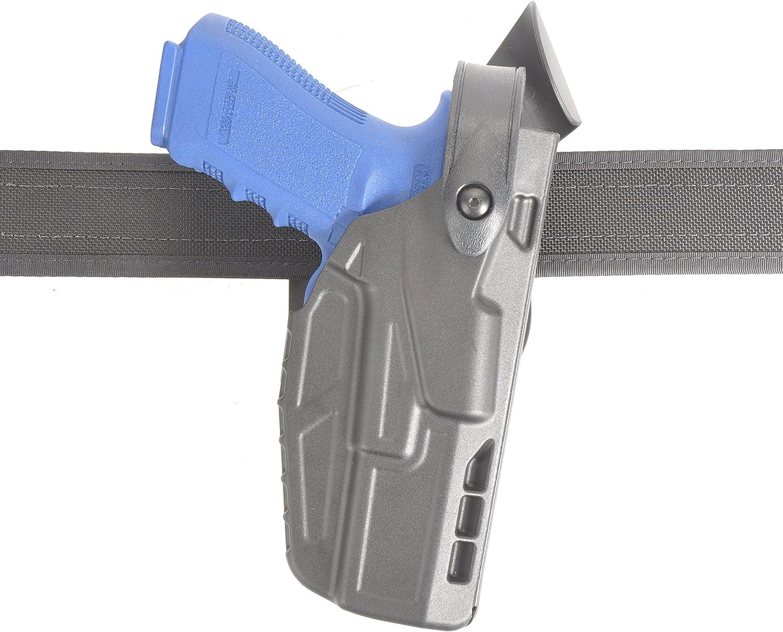 Model 7360 7TS ALS//SLS Mid-Ride Fits Glock 17//22 Right Hand Level III Retention Duty Holster Plain Black Finish