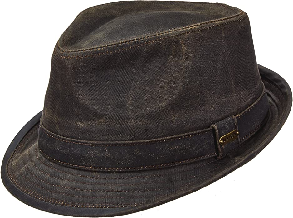 Stetson Men s Weathered Cotton Fedora (XL) at Amazon Men s Clothing ... c8373172d642