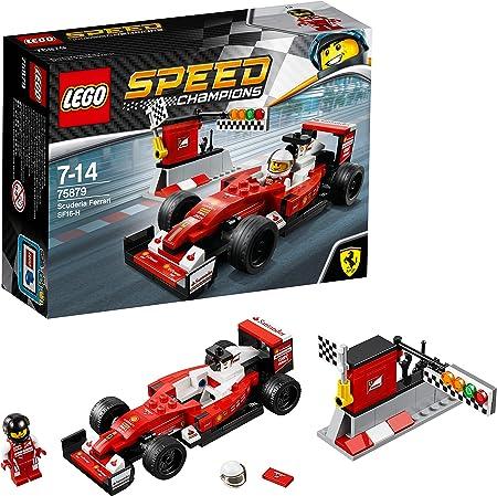 Incluye una minifigura de un piloto de Ferrari,El SF16-H de la escudería Ferrari, siempre preparado