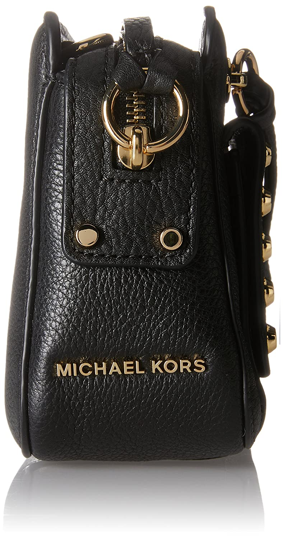 af43ba4b0fdb Michael Kors 30T7GT1M6L Womens Mitchell Cross-Body Bag Black (Black):  Handbags: Amazon.com