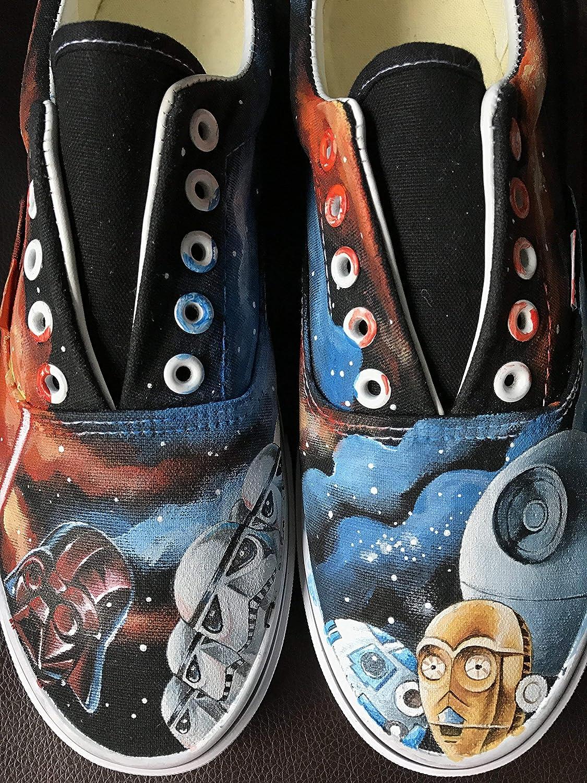 d98c06bc759d31 Star Wars Vans Painted Shoes Custom Men Women Unique Sneaker Hand Painted  Shoes  Amazon.co.uk  Handmade
