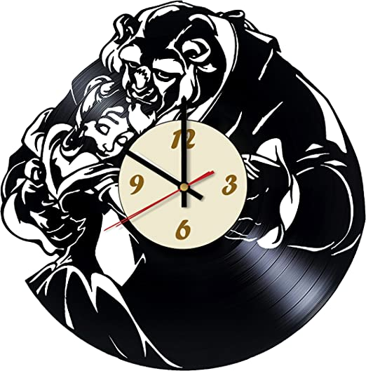Wall Clock Beauty And The Beast Silhouette