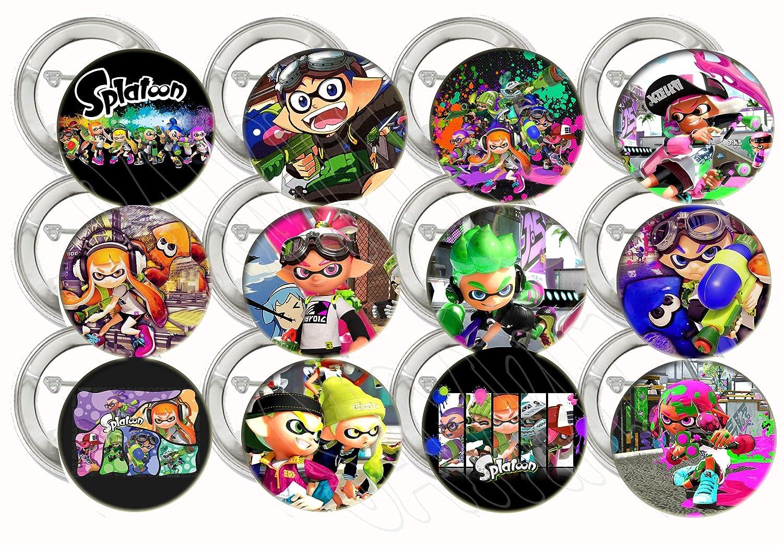 Amazon.com: Botones Splatoon para videojuegos, fiestas ...