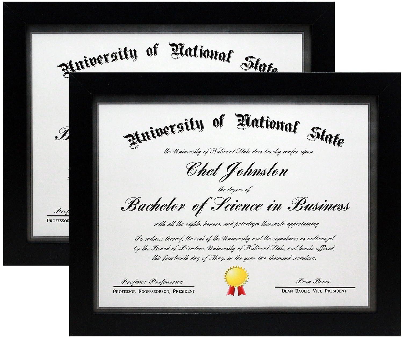 85x11 Black Gallery Certificate And Document Frame Two Frames Wide Molding Includes Both Attached Hanging Hardware Desktop Easel Certificates: Gl Frames Wedding Invitation At Websimilar.org