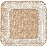 Burlap & Lace Dinner Plates