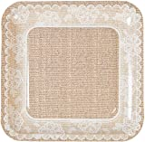 Burlap and Lace Dinner Plates 8 Count  sc 1 st  Amazon.com & Amazon.com: Burlap \u0026 Lace Paper Plates (Lunch Size Plates): Health ...