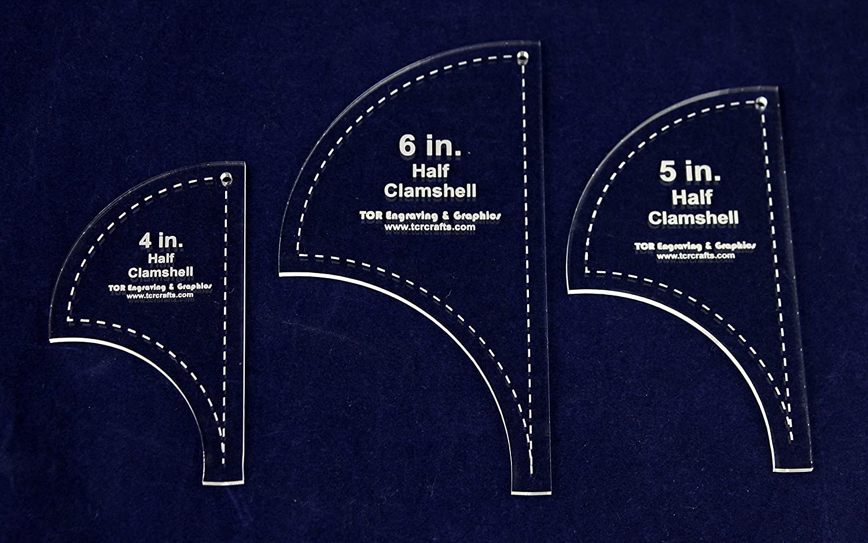 5 6-1//8 Half Clamshell Templates 4