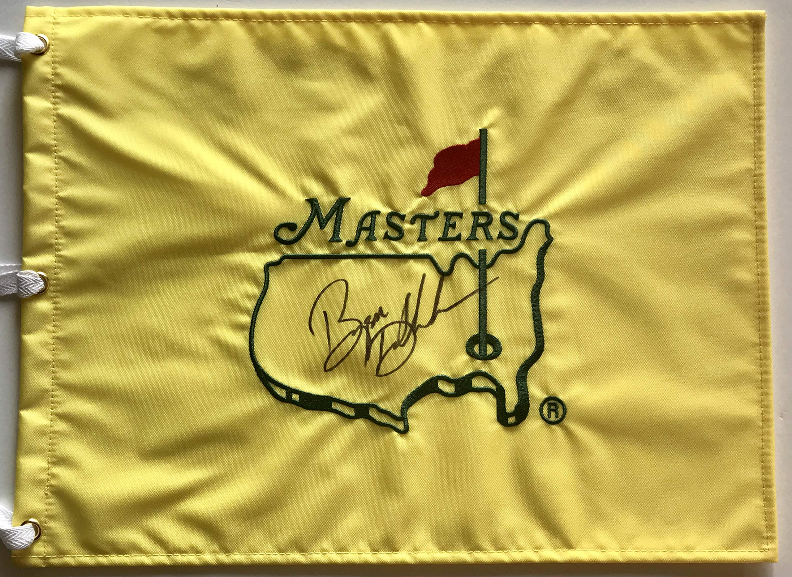 Bryson Dechambeau signed Masters flag undated 2018 ryder cup golf team usa