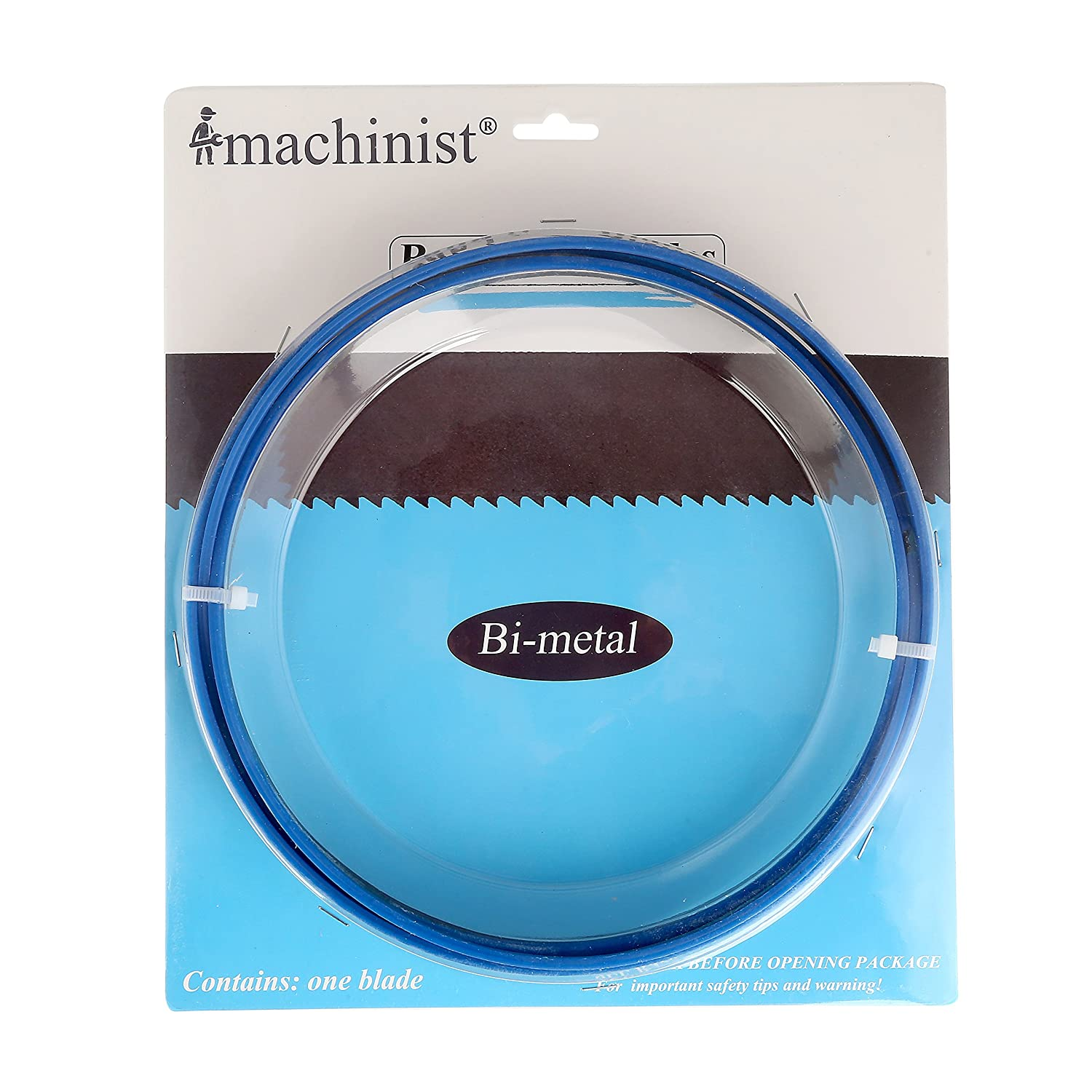 Imachinist 93-1/2' Long, 3/4' Wide, 0.035' Thick M42 Bi-metal Bandsaw Blades for Soft Metal Cutting (14TPI)