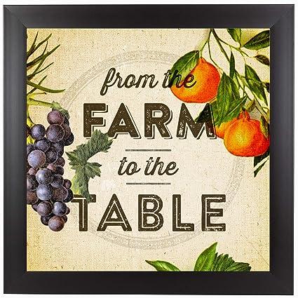 Amazoncom Americanflat Black Frame Print Farm To Table Set - Farm to table dallas