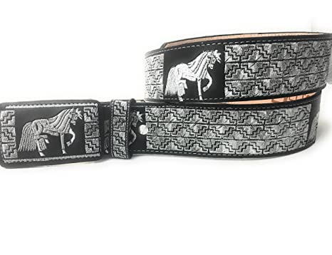 CINTO CHARRO BORDADO. WESTERN BELT. VAQUERO PITIADO at Amazon Men s ... 0a3f0304bd4a