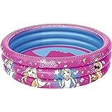 Bestway Barbie Pool  Barbie Round Inflatable Pool 4 Feet   Age 2 to 6 Years   Multi Color