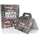 Pantry Moth Traps- Safe and Effective for Food and Cupboard- Glue Traps with Pheromones for Pantry Moths (8 Pack)