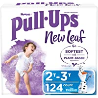 Pull-Ups New Leaf Boys' Potty Training Pants Underwear, 2T-3T, White, 124 Count