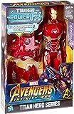 Boneco Homem de Ferro e Acessório Vingadores Guerra Infinita Hasbro Vermelho/Dourado 30cm