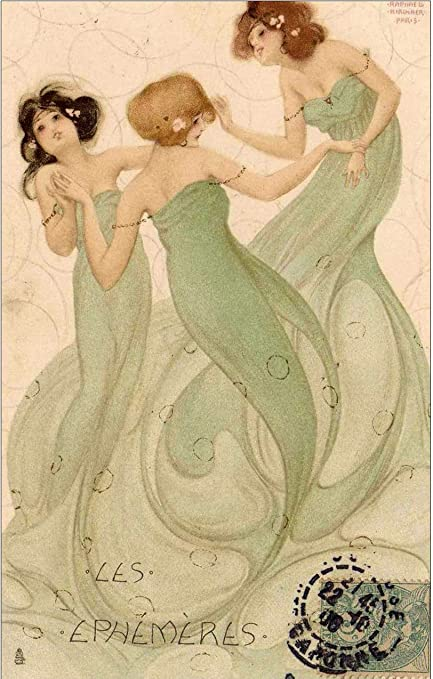 Amazon.com: Mayflyes by Raphael Kirchner: Posters & Prints