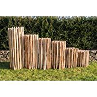 Staketenzaun Haselnuss Höhen 50 cm - 120 cm, Länge 5 Meter, Lattenabstände 3-5 cm und 7-9 cm