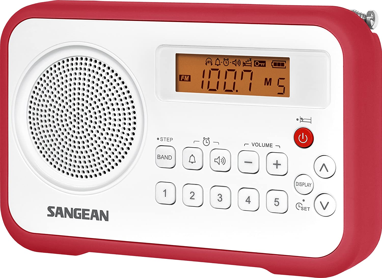 Amazon.com: Sangean PR-D18BU AM/FM/Clock Portable Digital Radio with ...