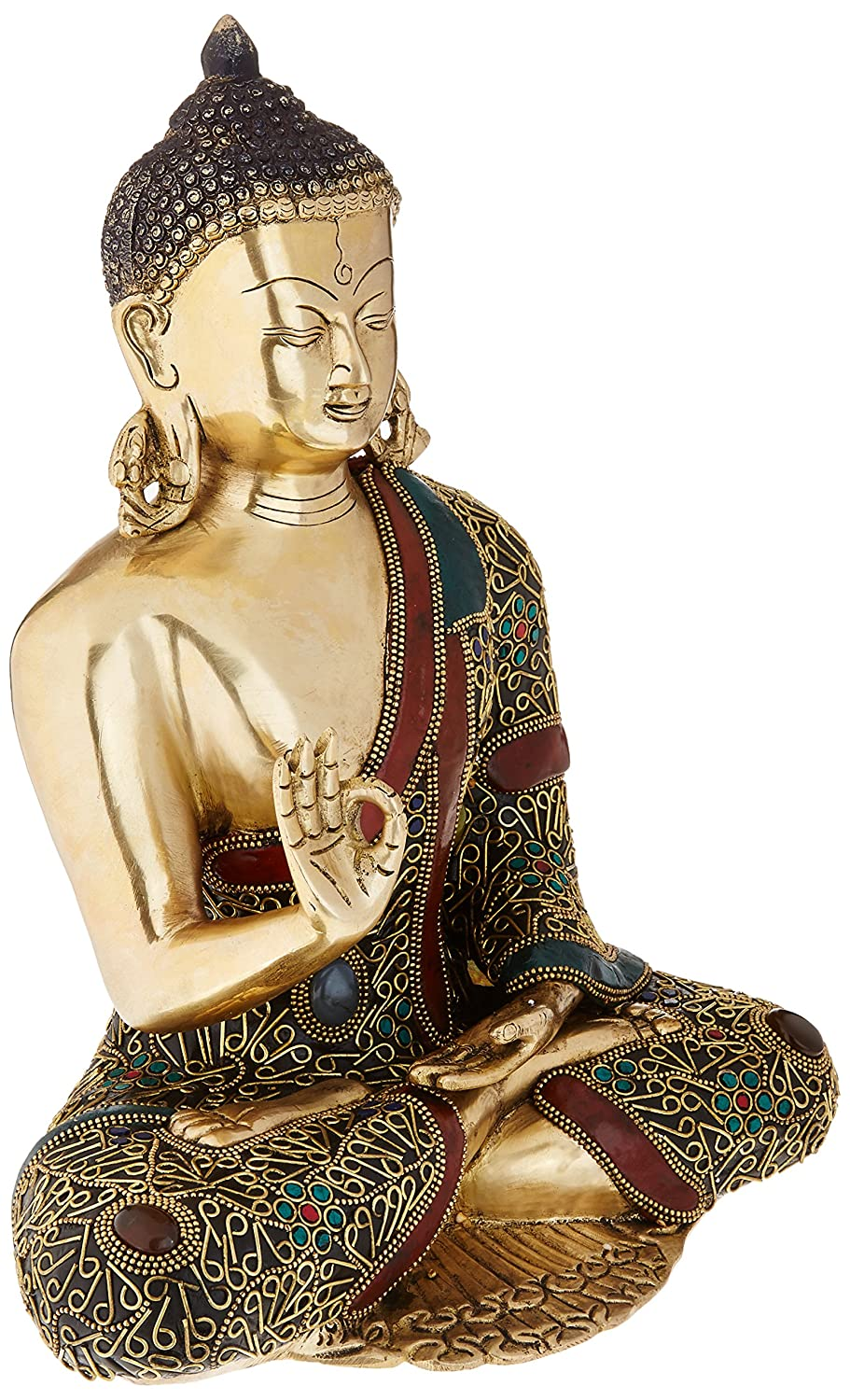 Groovy Amazon Com Idol Collections Abhaya Buddha Brass Statue Complete Home Design Collection Barbaintelli Responsecom