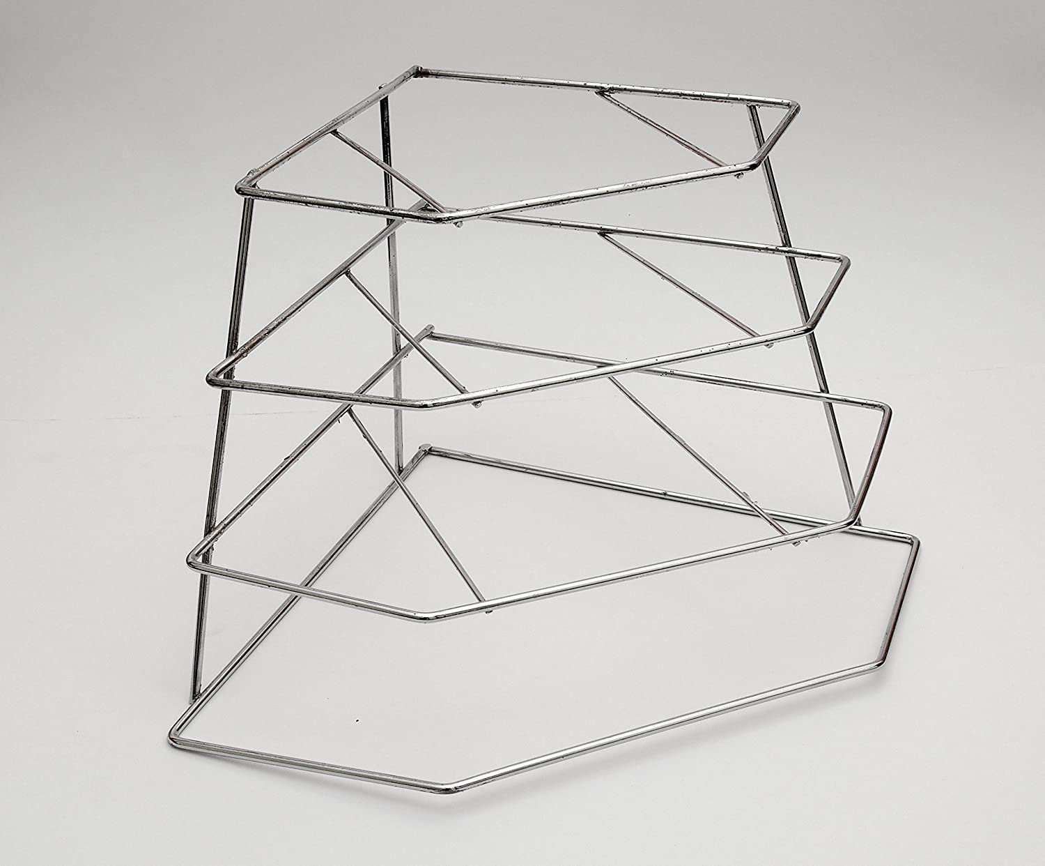 Black Corner Plate Rack by Delfinware (CHROME)