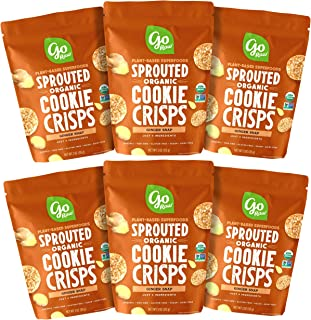product image for Go Raw Snacks, Sprouted Superfood Cookie Crisps, Ginger Snap (pack of 6 x 3oz bags) — Gluten Free | Vegan | Natural | Organic (00040122_ob)
