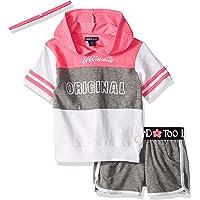 Limited Too Conjunto de Accesorios y Playera con Capucha, pantalón Corto para niñas