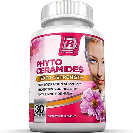 Amazon Com Bri Nutrition Phytoceramides Natural Anti Aging Skin Hair Vitamins For Collagen Boost Rejuvenation W Vitamins A C D E 350mg Per Serving 1 Vegetable Cellulose