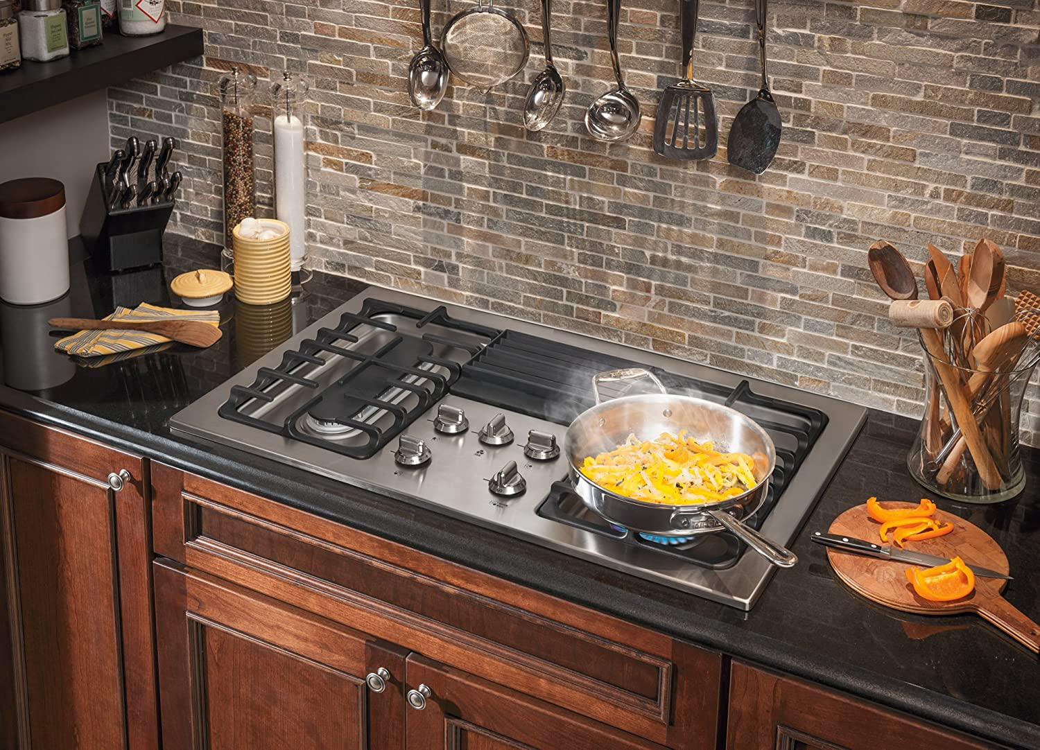 photo review cooktop kitchen stainless frigidaire with cooktops stove countertop gas professional griddle appliances