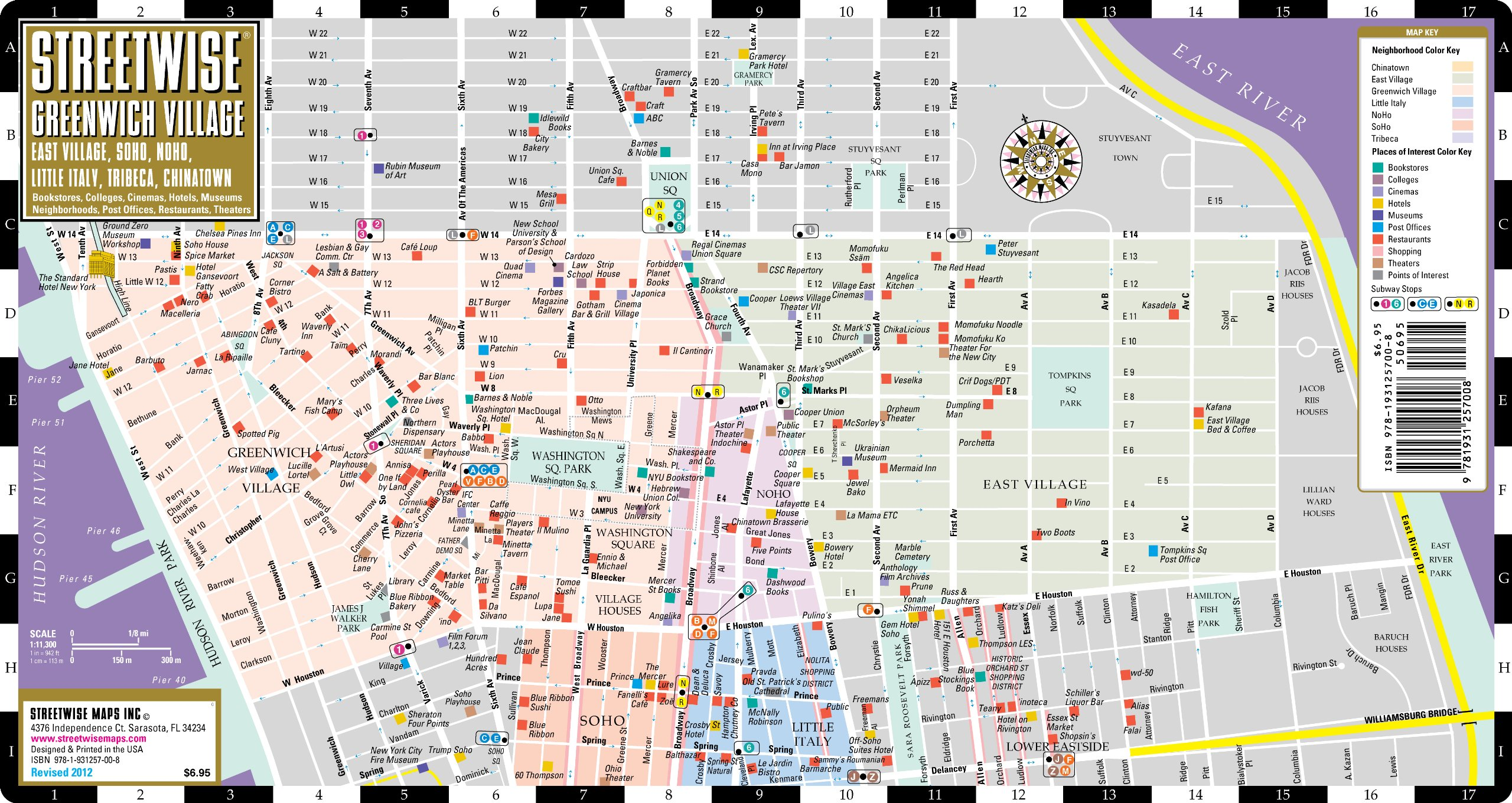 Map Of Greenwich Village Streetwise Greenwich Village Map   Laminated City Street Map of  Map Of Greenwich Village