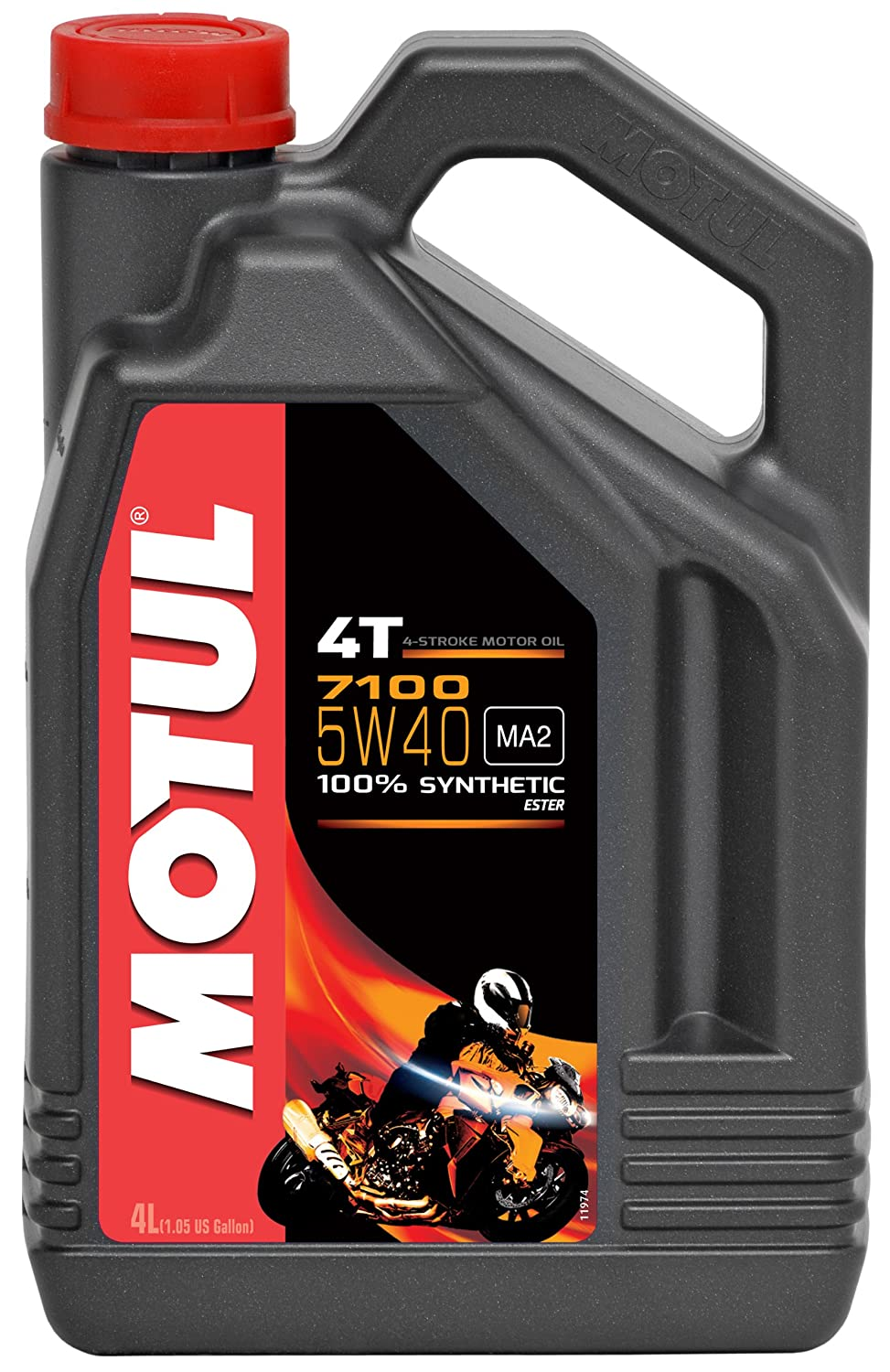 Motul 104087 7100 4T 5W-40 4L Fully synthetic Engine Oil Motul Deutschland Gmb H