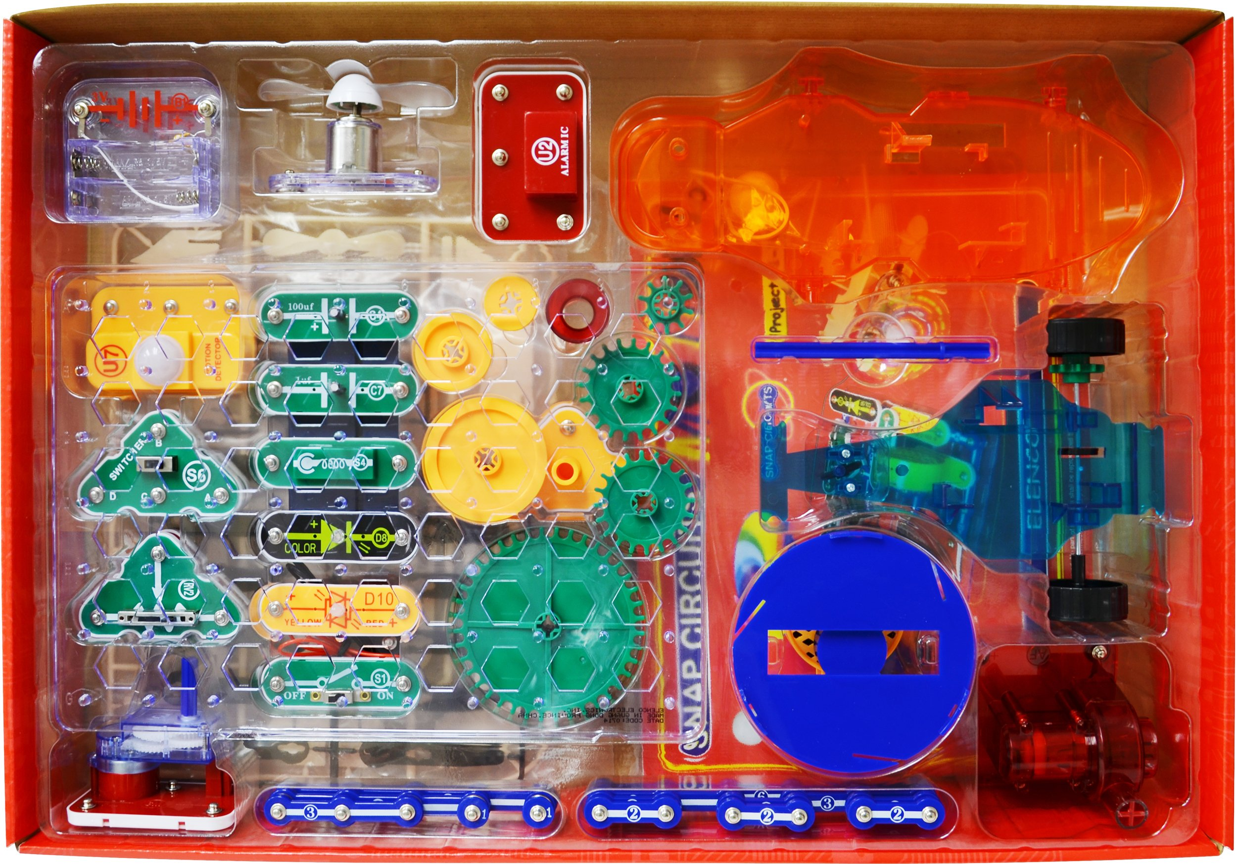 Snap Circuits Motion Electronics Exploration Kit | Over 165 Exciting STEM Projects | 4-Color Project Manual | 50+ Snap Modules | Unlimited Fun by Snap Circuits (Image #3)