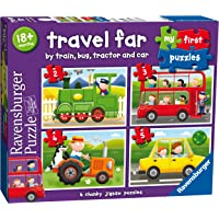 Ravensburger Travel Far My First Puzzle 2 3 4 5pc,Children's Puzzles