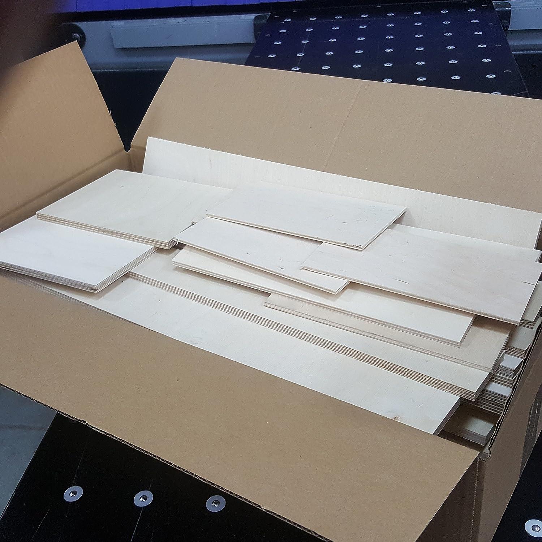 env 20 x 30 x 13 cm 3-4kg Restes Planchettes Contreplaqu/é 3mm-12mm r/ésidu de plaques bois d/ébit/é retaille coupes bouleau Taille M