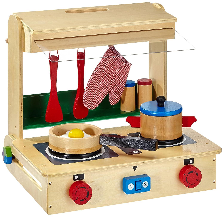 Kleine Kinderküche Holz - Legler Kinderküche im Koffer