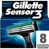 Gillette 7702018417841 hojilla de afeitar - hojillas de afeitar (Hombres, Gillette, Sensor3, Negro)