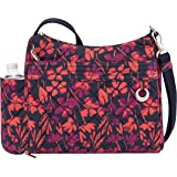 Travelon Women's Anti-Theft Boho Square Crossbody Cross Body Bag, Painted Floral (multi) - 33220-14C