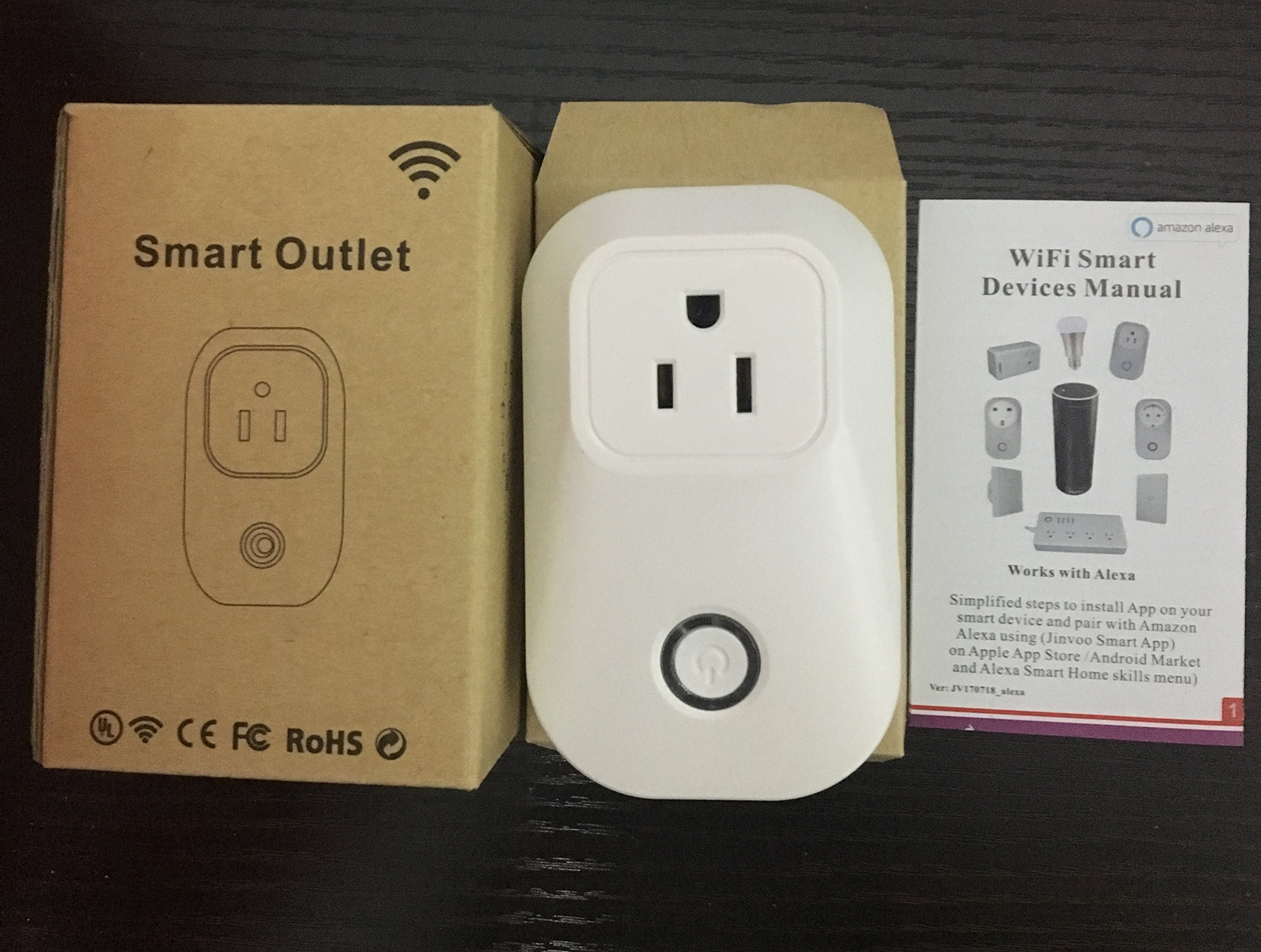 UL Listed WIFI Smart Plug, Wireless APP Remote Speaker Control Appliances Compatible with Alexa Smart Outlet for Smart Home Lights/ Fixtures/Other by WGOAL (Image #5)
