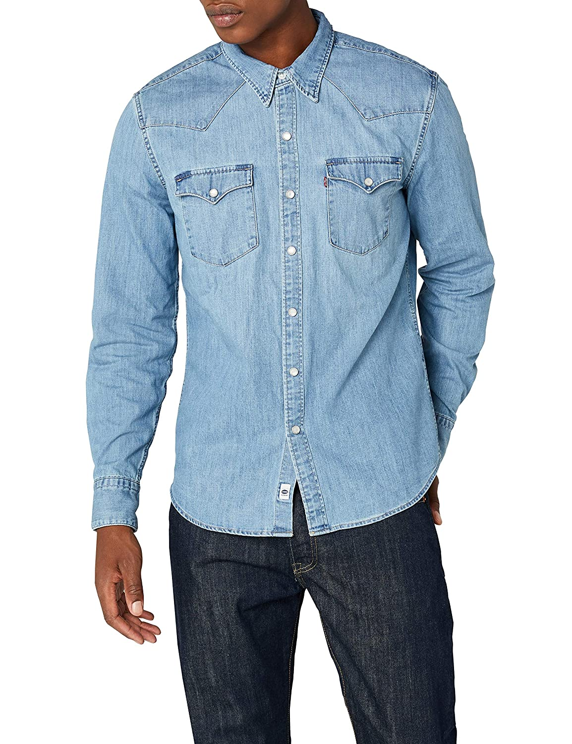 TALLA L. Levi's L/S Barstow Western Shirt Camisa Casual para Hombre