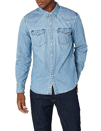 e2973e46 Levi's Men's Barstow Western Long Sleeve Shirt at Amazon Men's Clothing  store: