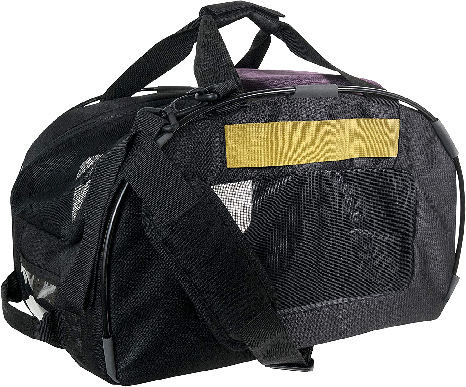 OllyDog Meridian Convertible Pet Carrier, 4-in-1 Pet Carrier, Can be Used in Car, Airport, or on a Trail, Air-Plane Travel On-Board Bag with Fleece Bolster Bed, for Small/Medium Cats and Dogs, Dahlia