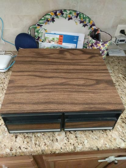 24 Capacity VHS Cassette Tape Holder Case Storage Cabinet [Hold 24 VHS Tapes ]